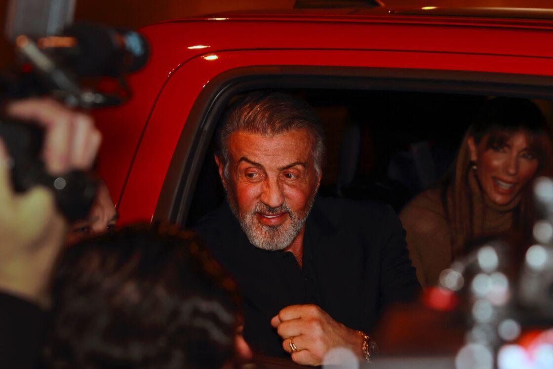 Sylvester Stallone, à la sortie d'un restaurant à Los Angeles, en janvier 2020.
