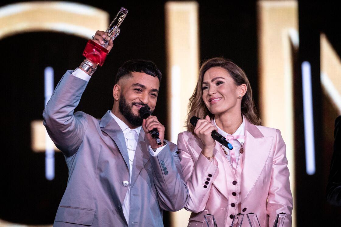 Vitaa et Slimane lors de la 35e cérémonie des Victoires de la musique