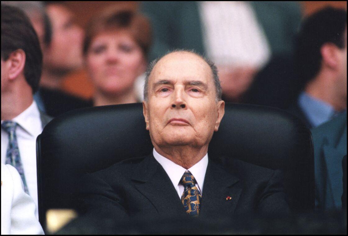 François Mitterrand au Parc des Princes, le 7 mai 1995