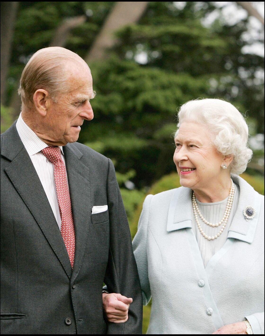 Le prince Philip et la reine Elizabeth II le 18 novembre 2007