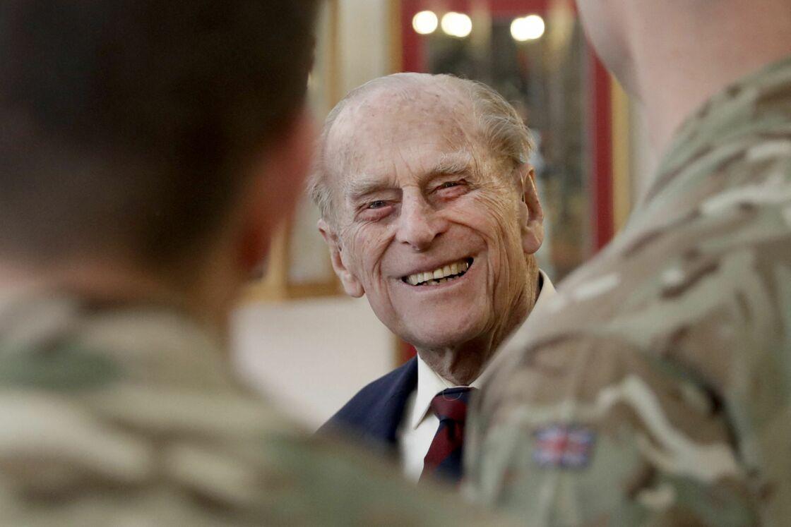 Le prince Philip, lors d'un déplacement à Aldershot, en mars 2017.