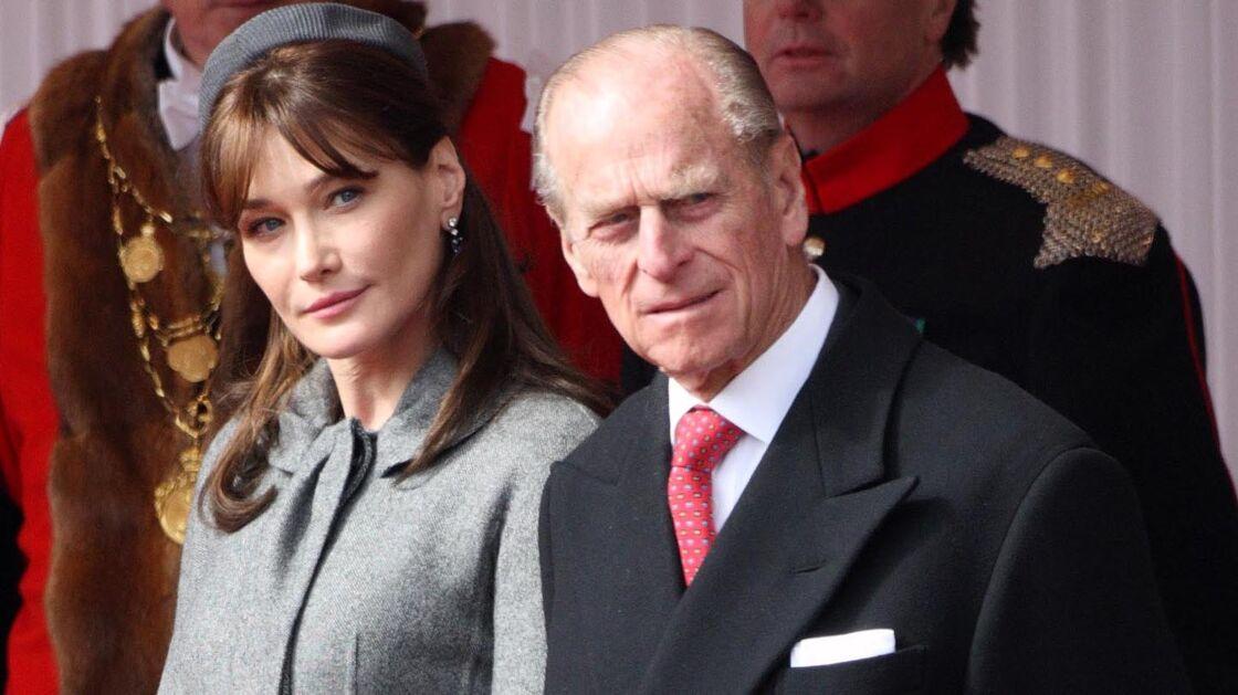 Carla Bruni et le prince Philip, le 7 avril 2008