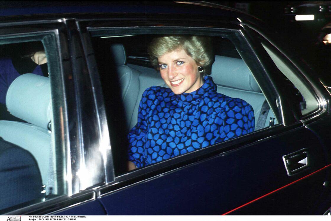 Lady Diana à Londres dans les années 1990