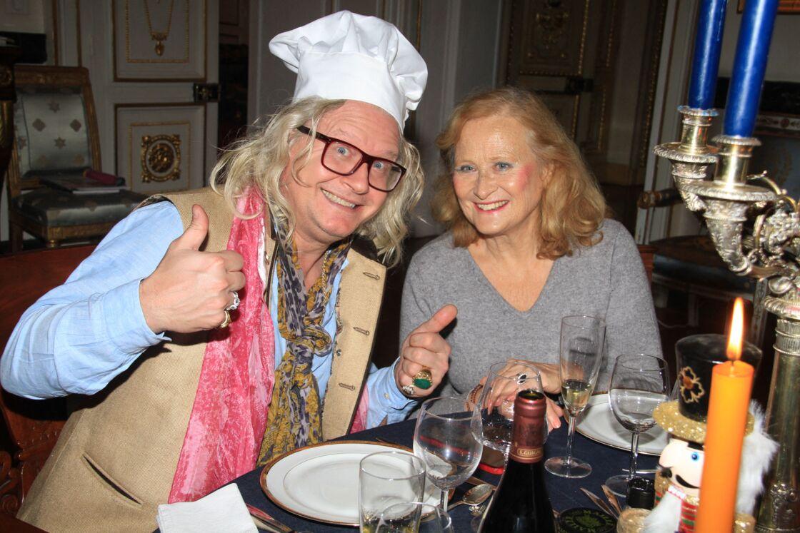 Pierre-Jean Chalençon, Katia Tchenko lors d'un dîner au Palais Vivienne