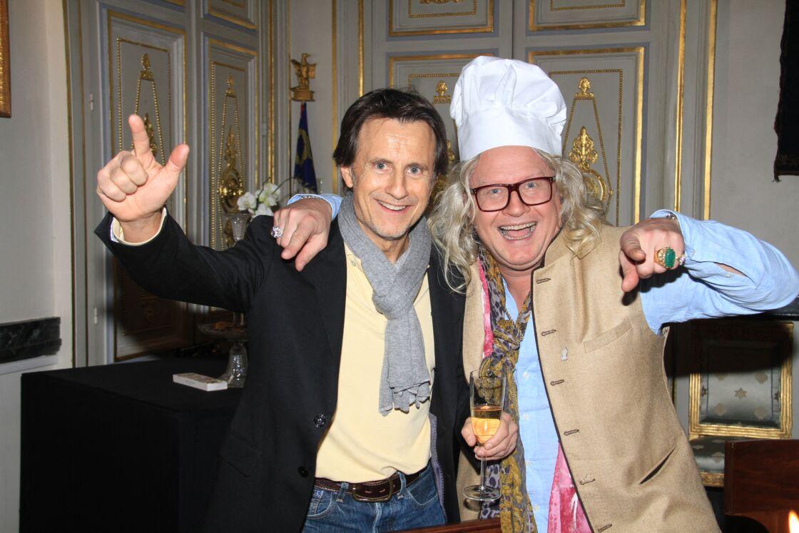 Vincent Perrot et Pierre-Jean Chalençon lors d'un dîner au Palais Vivienne