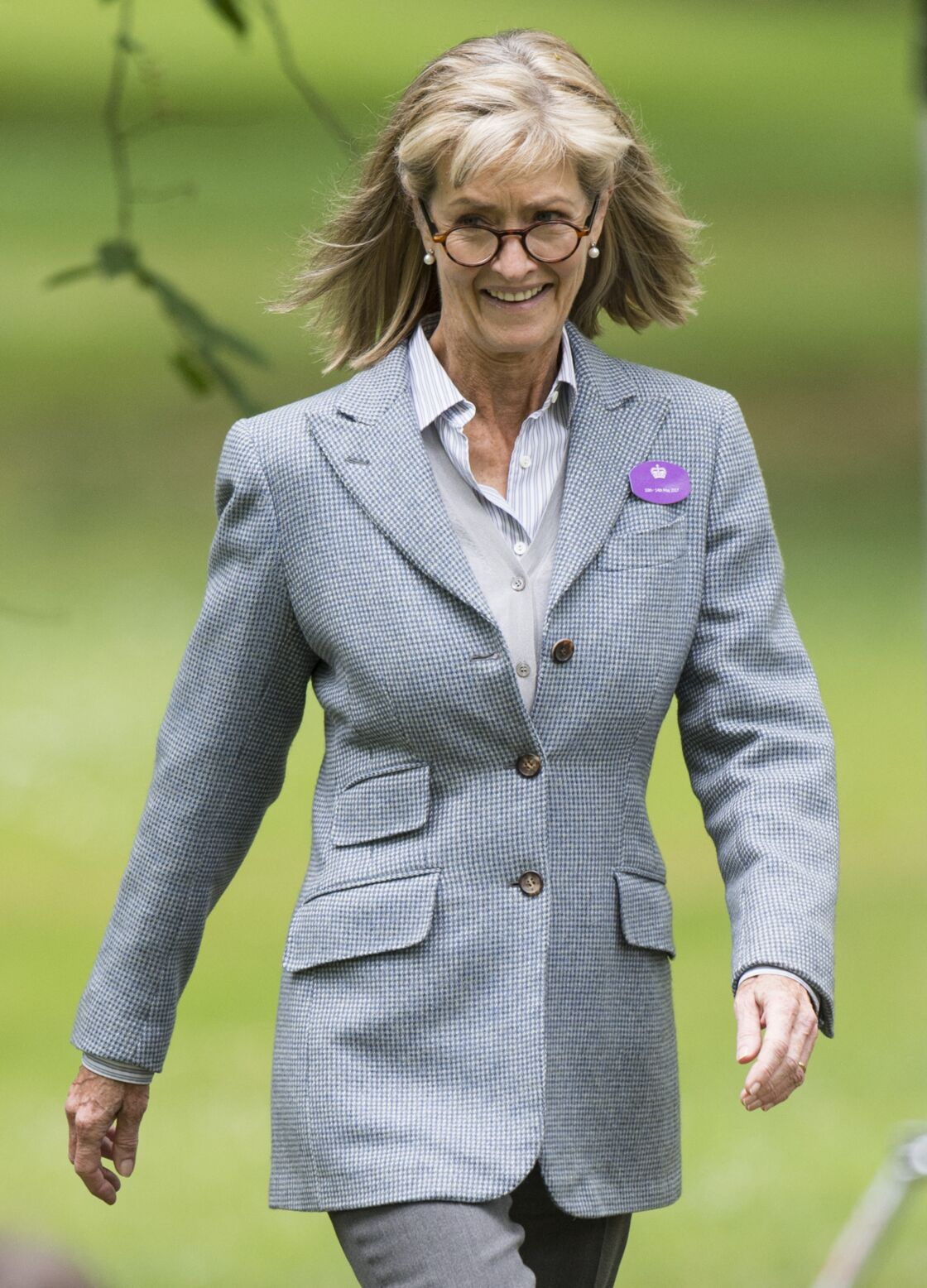 Lady Penny Bradbourne, comtesse Mountbatten de Birmanie, à Windsor, à l'occasion du Royal Horse Show, en mai 2017.