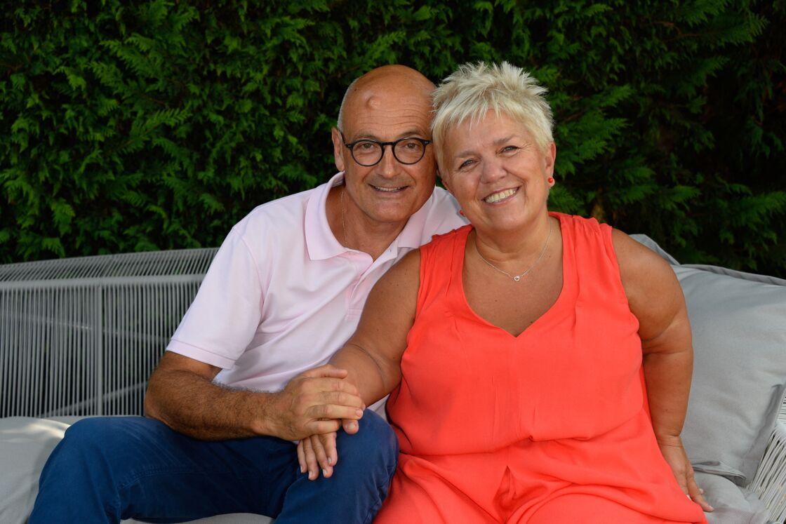 Mimie Mathy et son mari Benoist Gérard à Angoulême le 26 août 2016