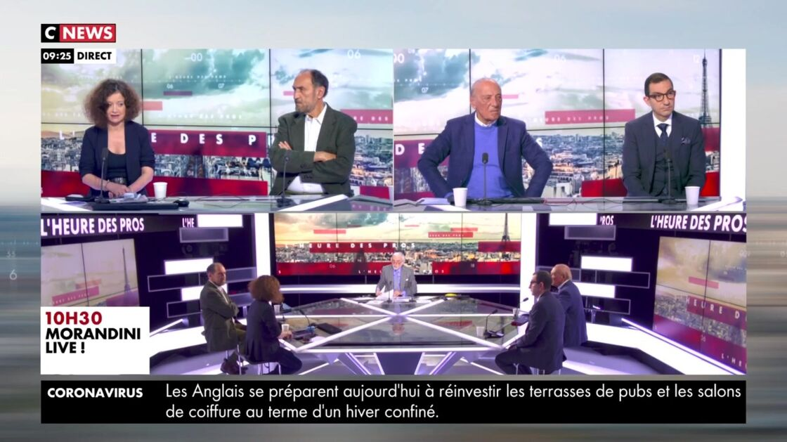 Pascal Praud, dans L'heure des Pros, lundi 12 avril 2021.