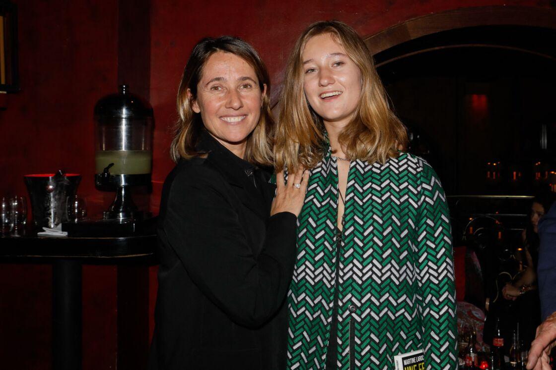 Alexia Laroche-Joubert et sa fille Solveig, née de sa relation avec Ian-Philippe Blanc, au Buddha Bar à Paris, le 18 avril 2019
