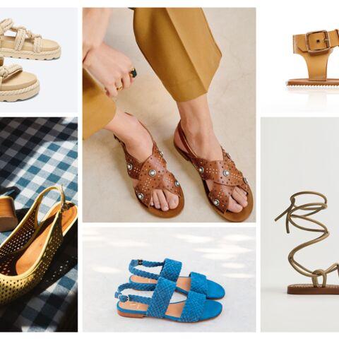 PHOTOS – 30 sandales plates tendance printemps-été 2021