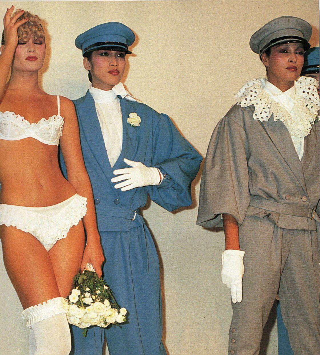 Quand la lingerie fait son entrée dans la mode Chantal Thomass. Défilé été 1976.