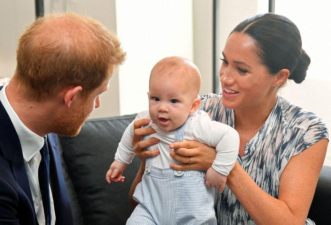 Harry, Meghan Markle et leur petit Archie à Cape Town, en septembre 2019.