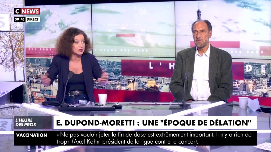 Elizabeth Lévy s'exprime sur la polémique des dîners clandestins sur Cnews, lundi 12 avril 2021.