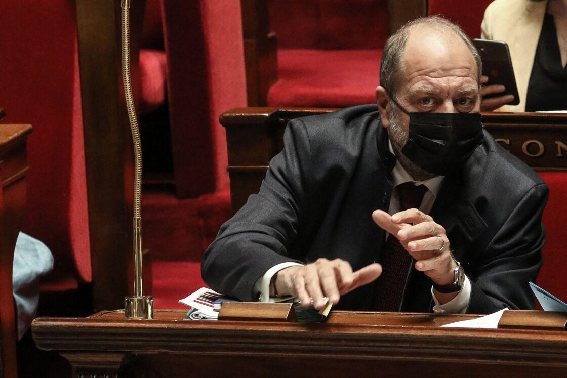 Eric Dupond-Moretti, ministre de la justice, garde des Sceaux - Séance de questions au gouvernement à l'Assemblée Nationale, Paris, le 13 avril 2021.