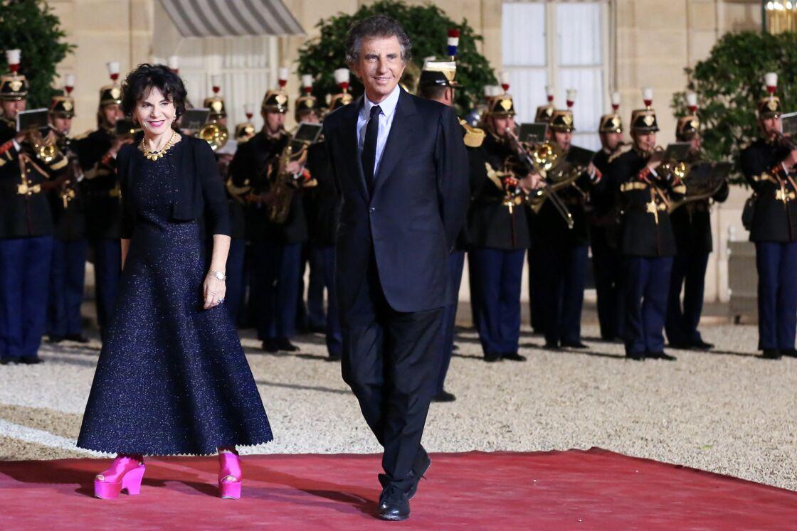Jack et Monique Lang participaient à un diner d'État au palais de l'Elysée à Paris, France, le 15 octobre 2018