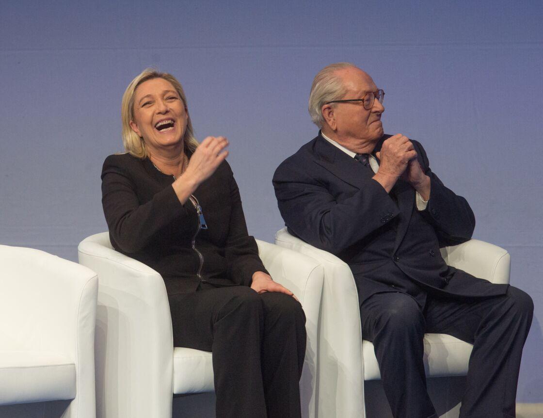 Marine Le Pen et Jean-Marie Le Pen à Lyon le 29 novembre 2014