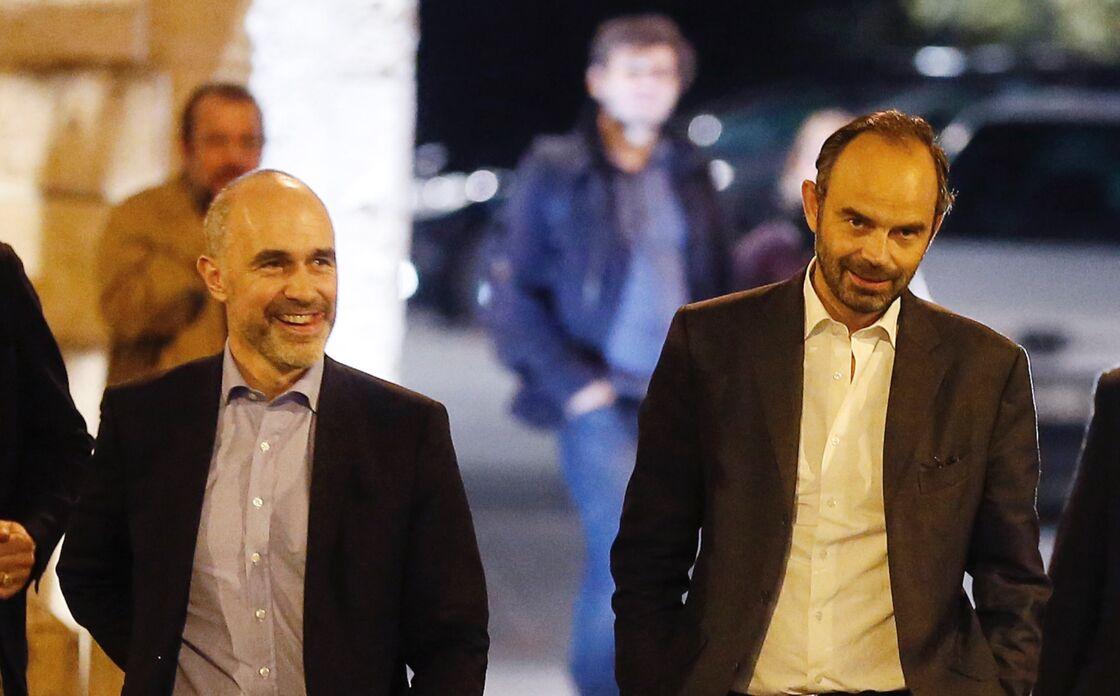 Gilles Boyer et Édouard Philippe, le 20 octobre 2017 à Bordeaux