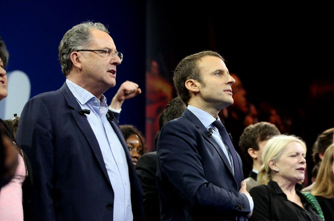 Richard Ferrand et Emmanuel Macron en 2016