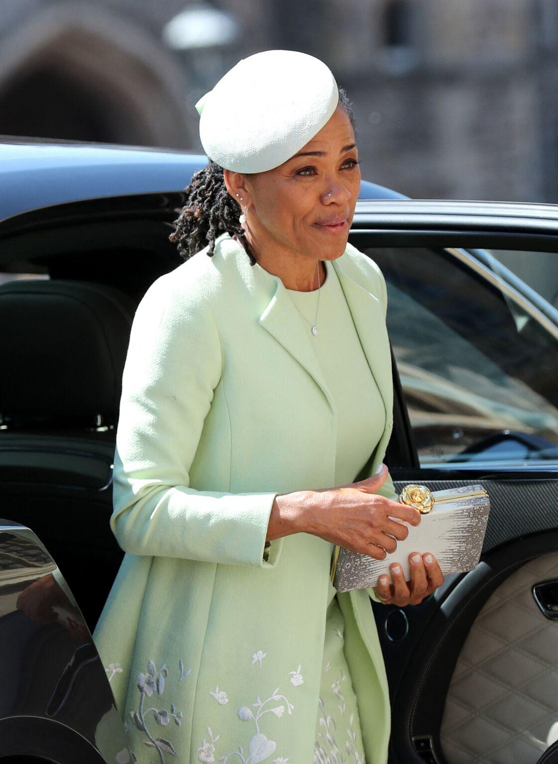 Doria Ragland, le jour du mariage de Meghan Markle et du prince Harry, le 19 mai 2018 à Londres