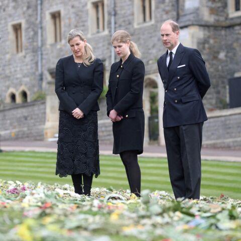 PHOTOS – Le prince Edward, Sophie de Wessex et leur fille Lady Louise émus avant les obsèques de Philip