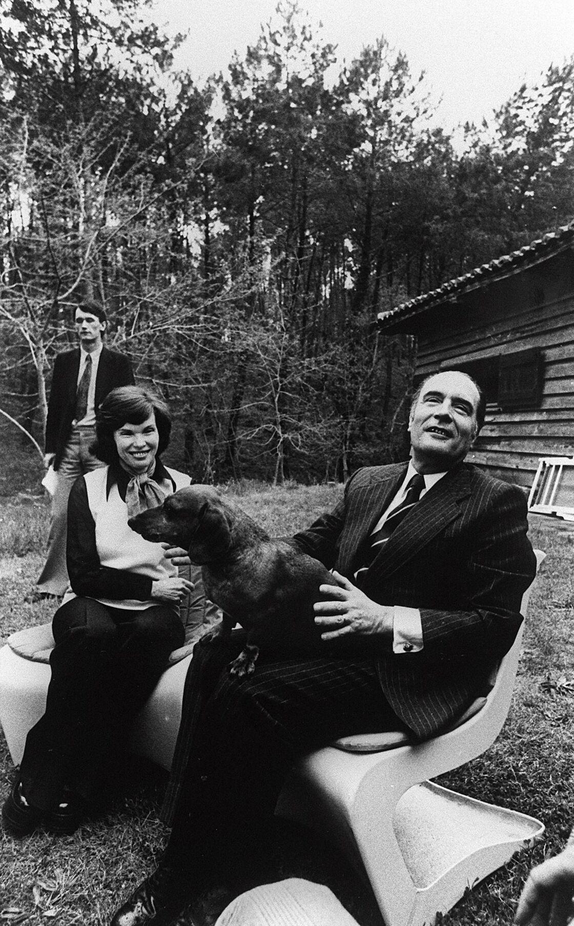Danielle et François Mitterrand à Latche