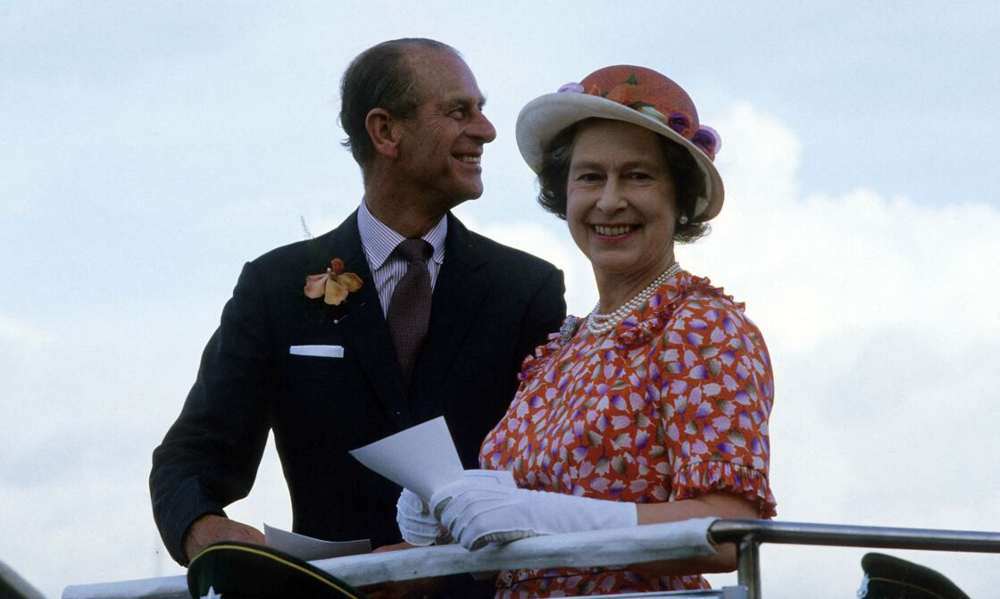 Elizabeth II avec le prince Philip en 1977