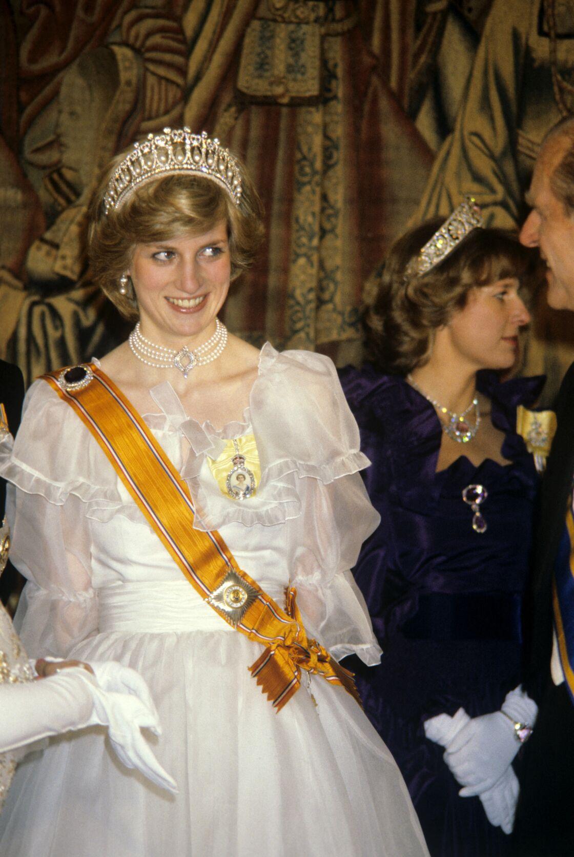 La princesse Ladi Diana en 1982 au banquet donné par la reine Beatrix and le Prince Claus
