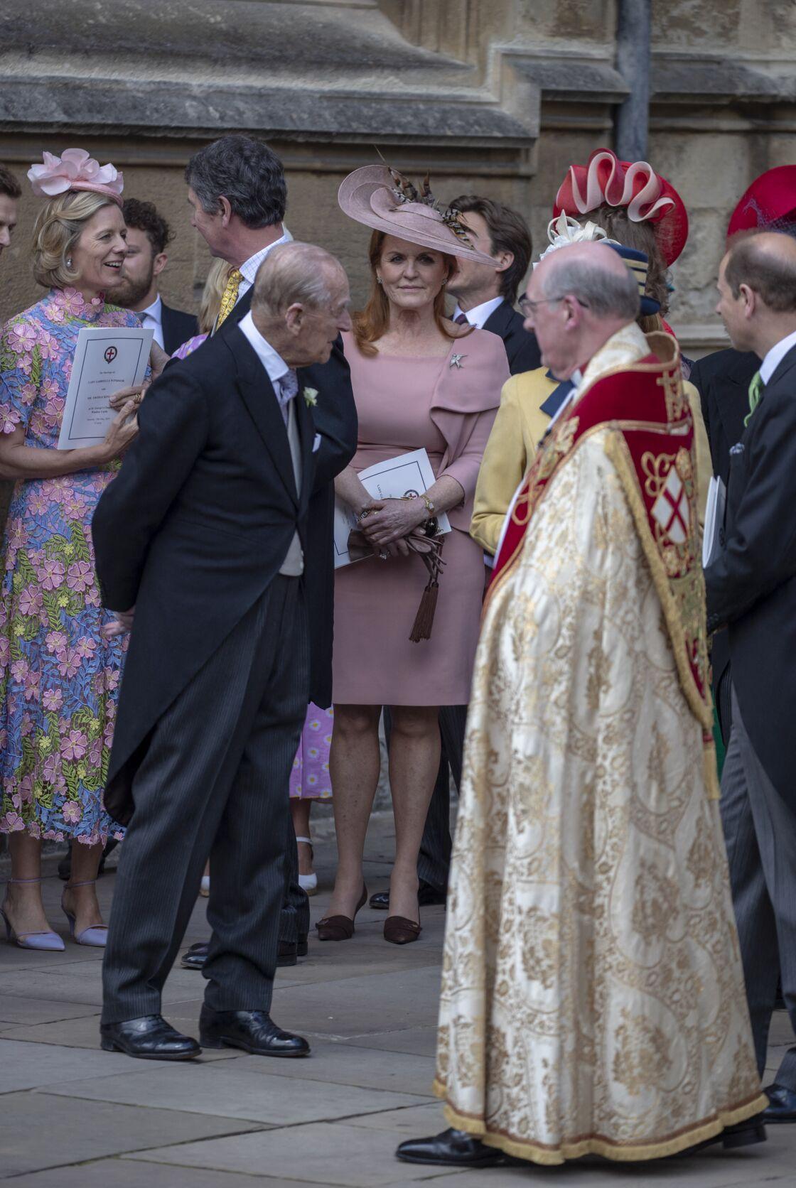 Le prince Philip et Sarah Ferguson lors du mariage de Lady Gabriella Windsor le 18 mai 2019