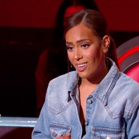 Amel Bent fashionista:  découvrez le prix de sa robe en jean et ses bottes glitter dans The Voice
