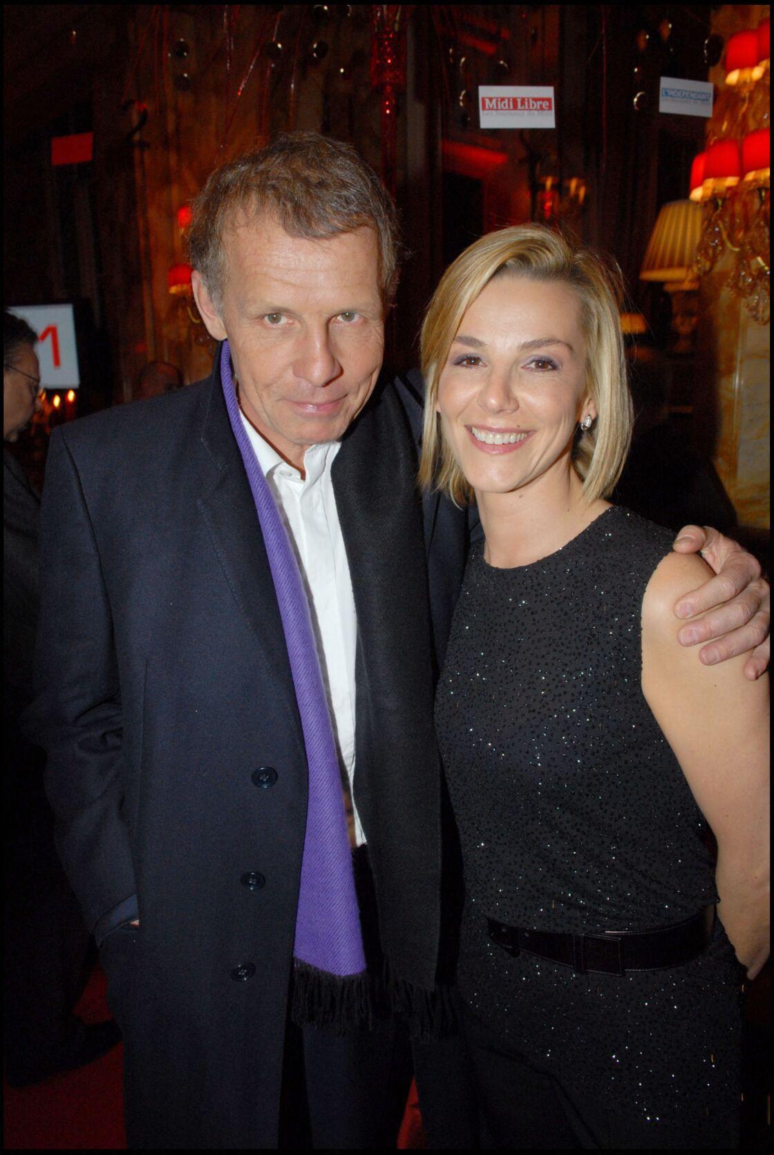 Patrick Poivre d'Arvor et Laurence Ferrari le 13 février 2007, un peu plus d'un an avant qu'elle lui succède aux commandes du JT de TF1
