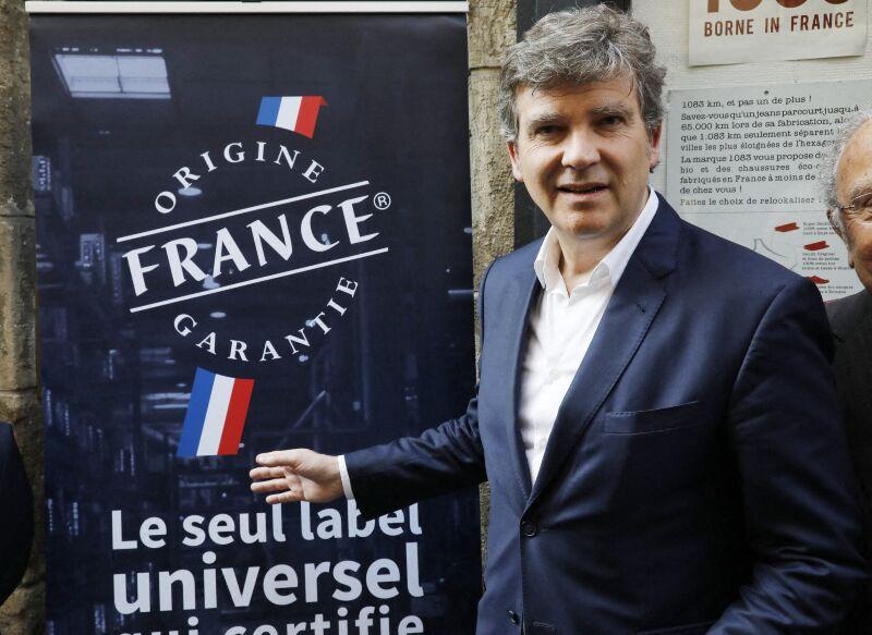 Arnaud Montebourg lors de l'inauguration de la rue Made in France, à Paris, le 15 mai 2018