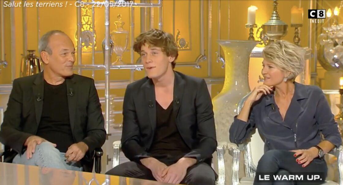 Benjamin Baffie au côté de son père, Laurent Baffie, dans l'émission