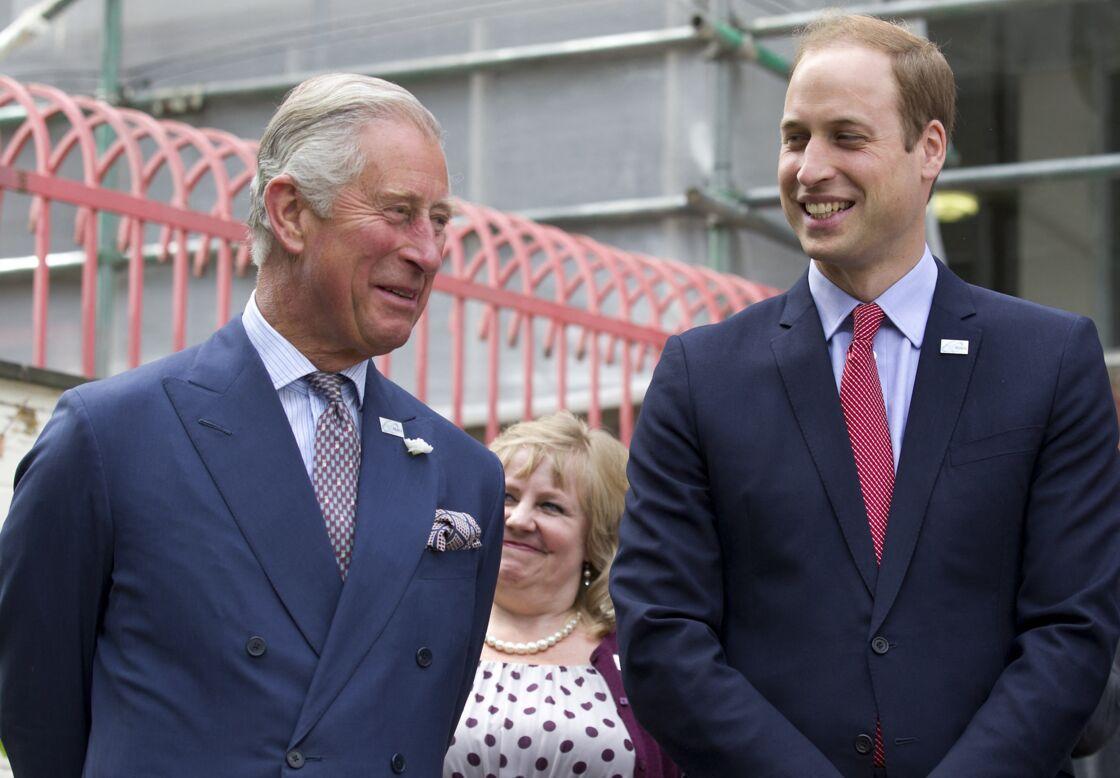 Le prince Charles et son fils, le prince William