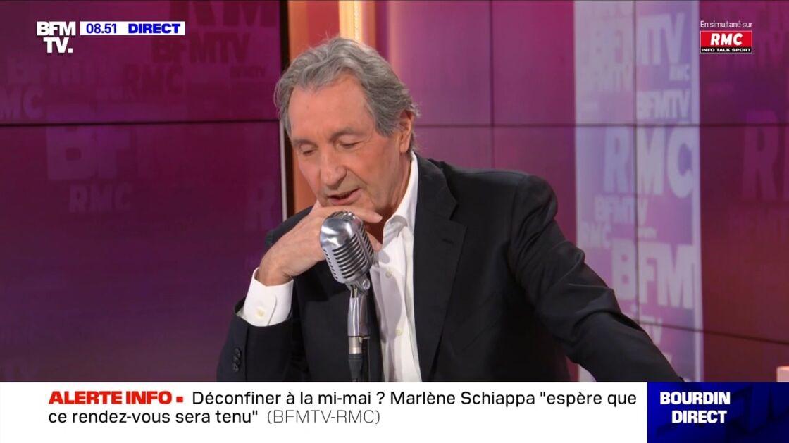 Jean-Jacques Bourdin est apparu quelque peu gêné après sa bourde face à Marlène Schiappa, dans son émission matinale
