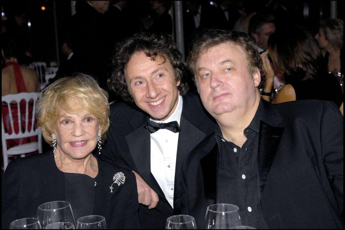 Jeanne Moreau, Stéphane Bern et Dominique Besnehard à Paris le 1er décembre 2008