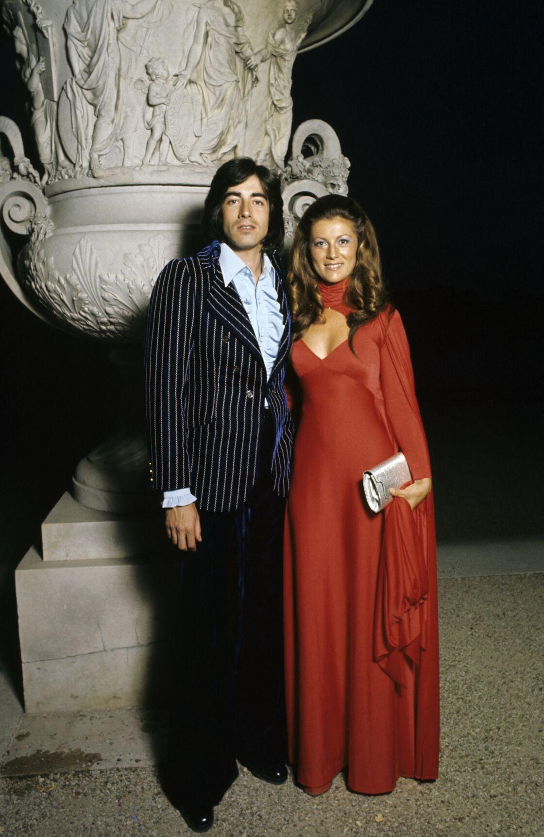 Sheila et son premier mari Ringo, lors des Trophées de la télévision, au Château de Versailles, le 19 juin 1973.