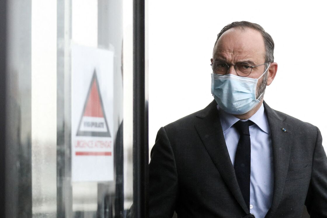 Edouard Philippe, maire du Havre - le 22 janvier 2021, au Havre