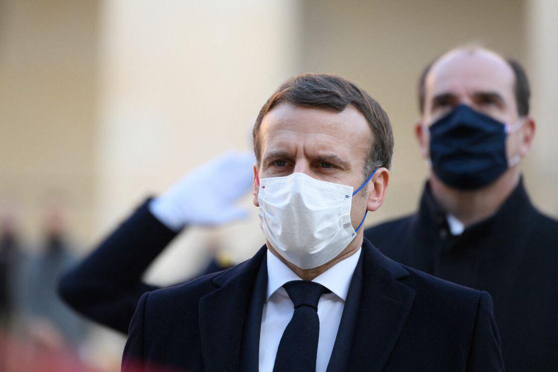 Emmanuel Macron le 26 novembre 2020 aux Invalides