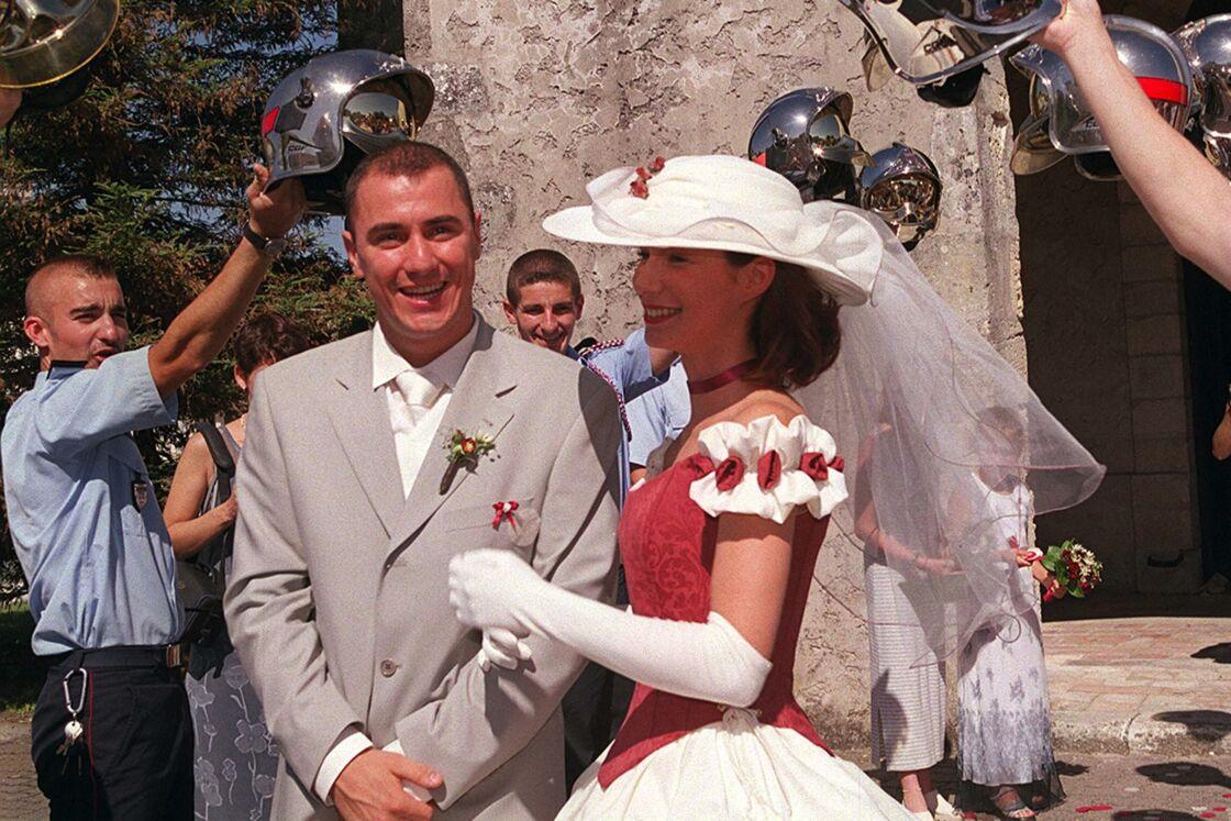 Jennifer Lauret et son ex-mari, Yannick, le jour de leur mariage, le 19 juin 2000