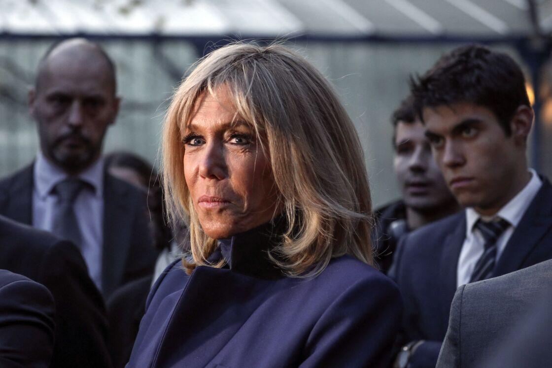 Brigitte Macron, en visite dans un collège, à Paris, le 7 novembre 2019.