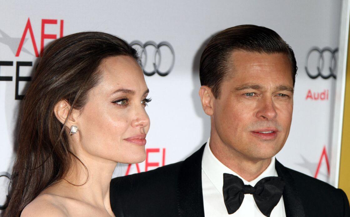 Brad Pitt et Angelina Jolie à Hollywood, le 5 novembre 2015.