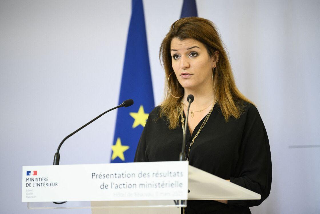 Marlène Schiappa en mars 2021, à Paris