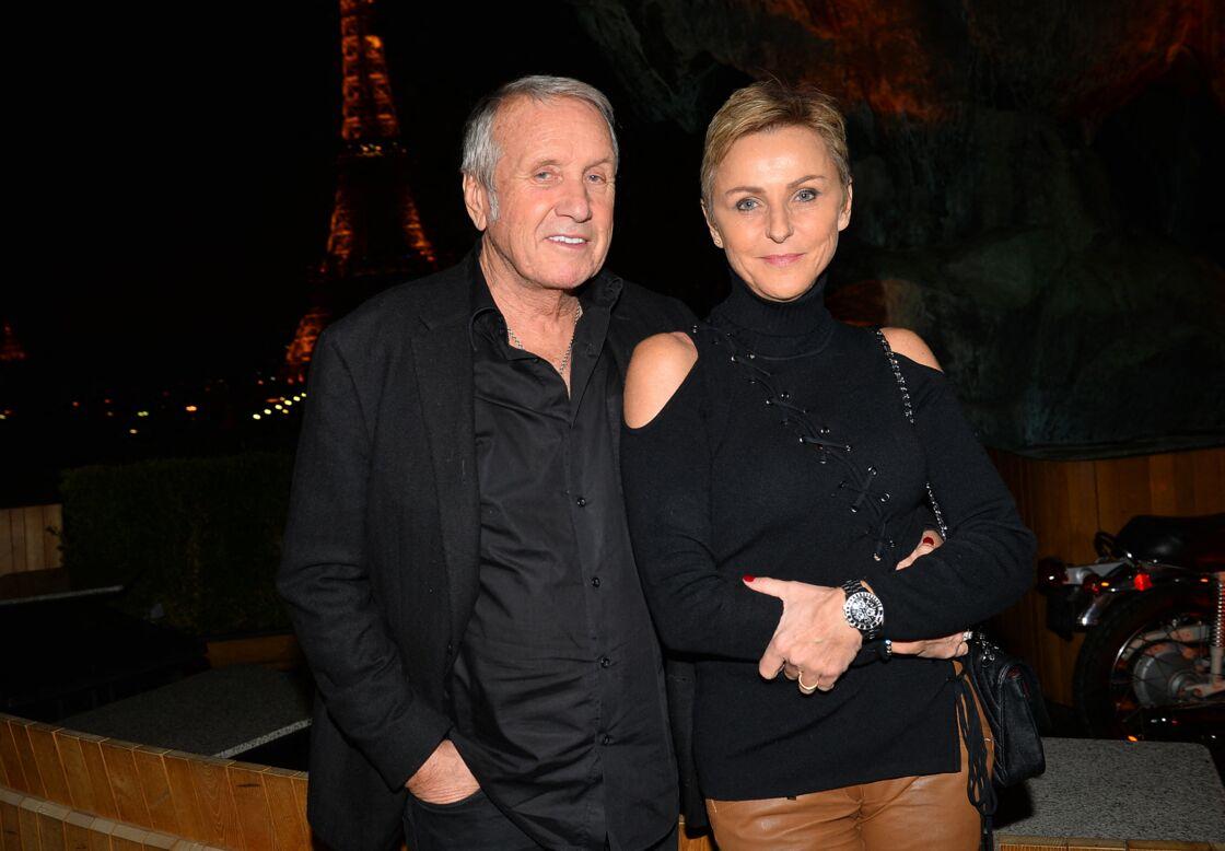 Yves Rénier et sa femme Karin à Paris, en janvier 2018.