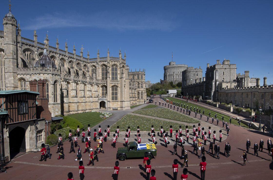 Les funérailles du prince Philip au château de Windsor, le 17 avril 2021.