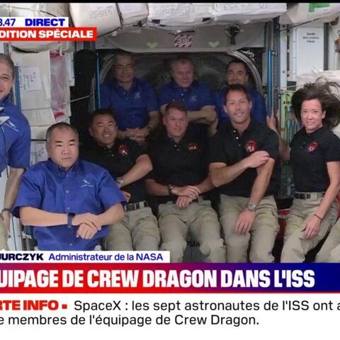 «Ça a beaucoup changé»: Thomas Pesquet tout sourire pour son entrée dans la Station Spatiale
