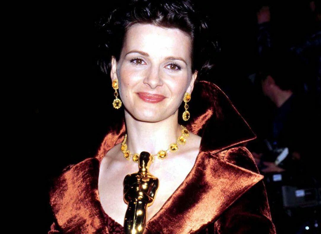 Juliette Binoche avec son Oscars