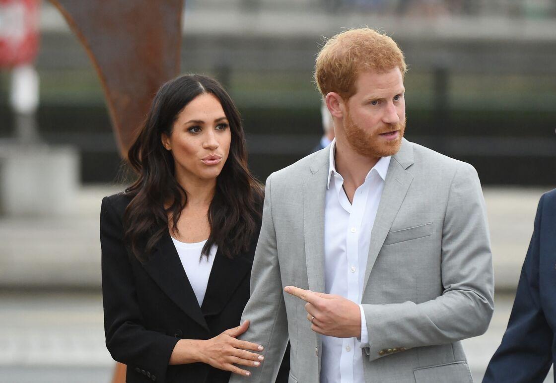 Le prince Harry et Meghan Markle arrivent au musée de l'émigration EPIC à Dublin le 11 juillet 2018