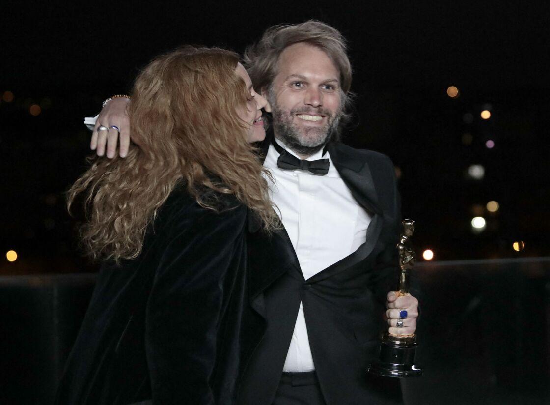 Florian Zeller et Marine Delterme aux Oscars 2021 (depuis Paris) dans la nuit du 25 au 26 avril 2021