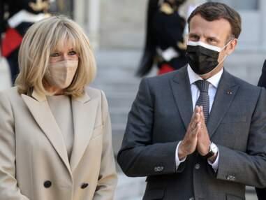 PHOTOS - Brigitte Macron : nouvelle apparition stylée auprès de son président de mari
