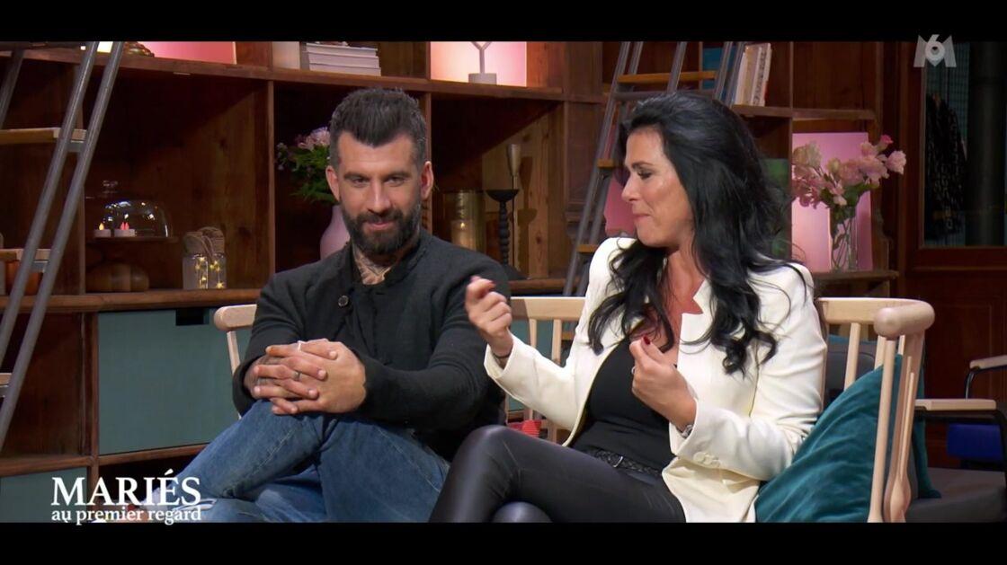 Alain et Cécile lors du bilan de Mariés au premier regard, ce lundi 26 avril, sur M6.